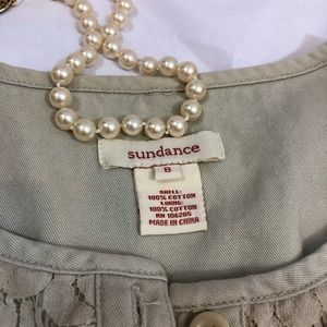 Sundance Jackets & Coats - Sundance Jacket Lace Front Ruffle Trim 8 cotton H